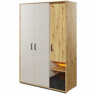 Šatní skříň Qubic dub artisan