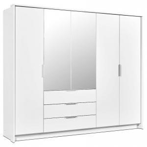 Skriňa Togo 255 biely/zrkadlo
