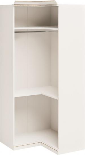 TARANKO Verona V-18/N rustikálna rohová šatníková skriňa biela patyna