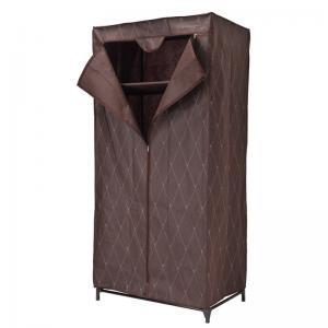 Textilná šatníková skriňa Gallo - hnedá