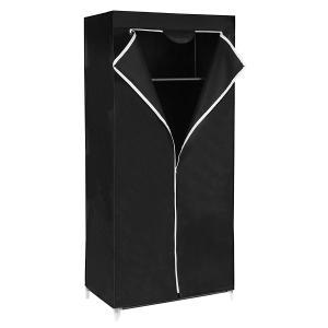 Šatní textilní skříň Yuma černá